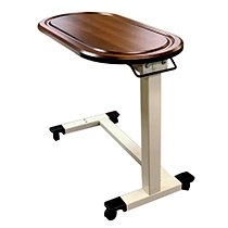 Monaco OverBed Table Walnut Racetrack Feature